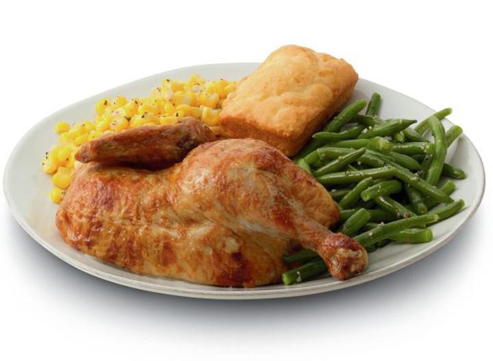 Boston Market half chicken meal