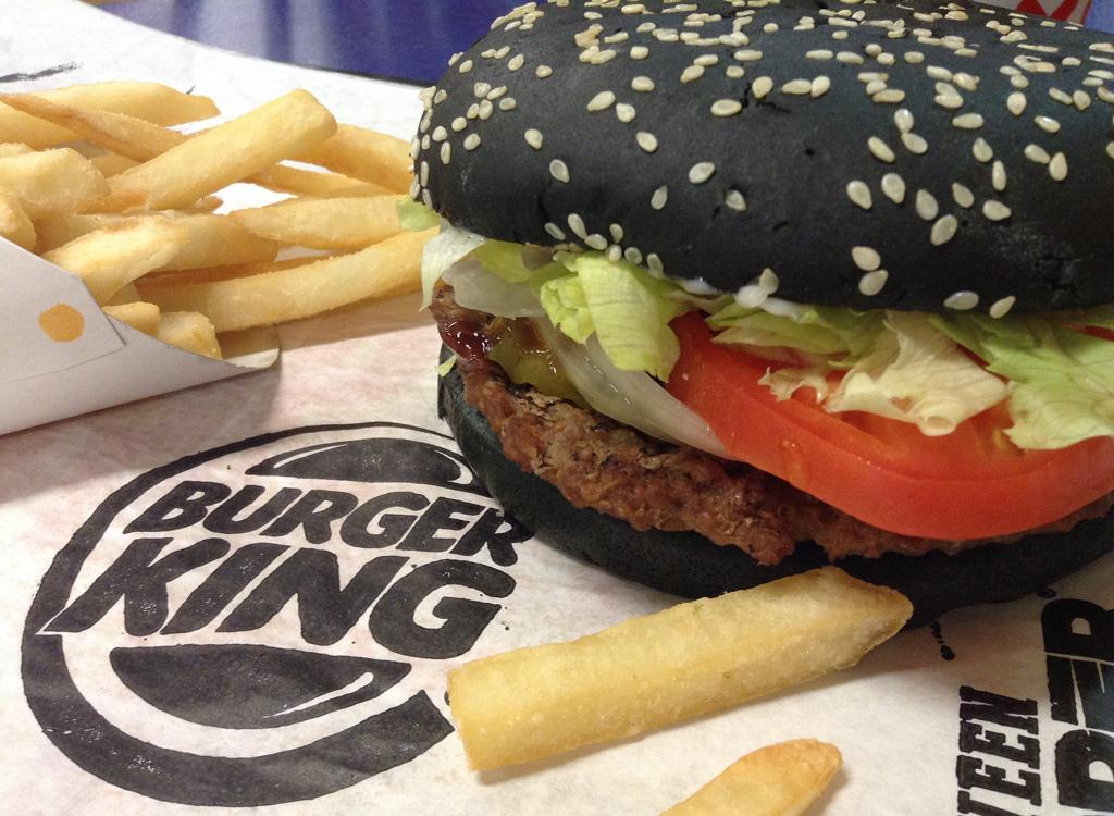 Burger King black halloween burger