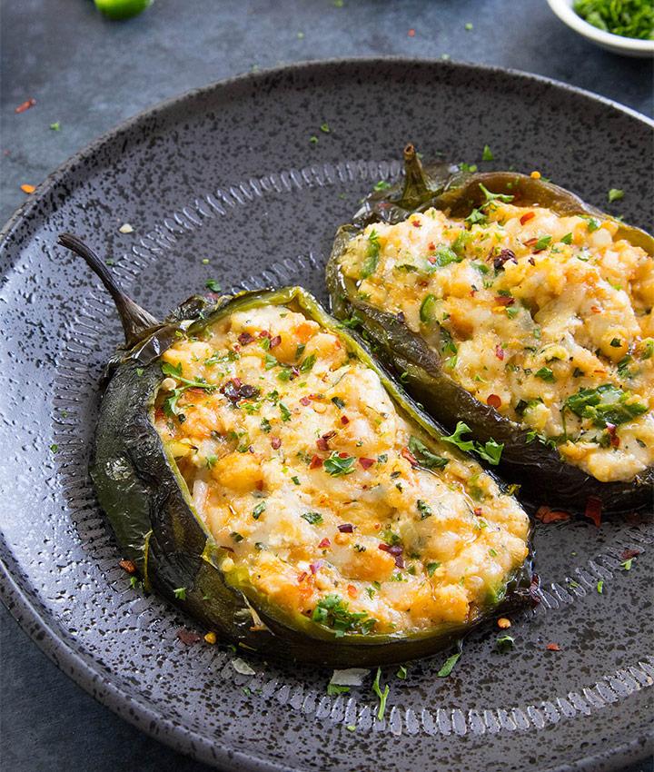 Cajun shrimp stuffed peppers recipe blogger