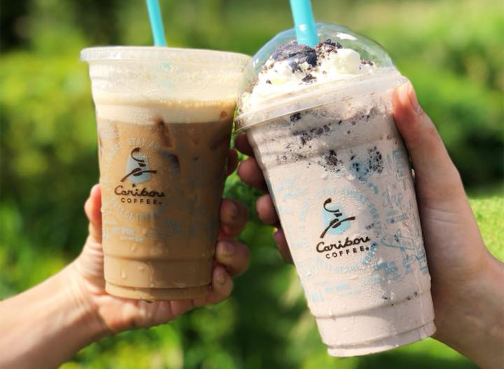 Caribou coffee cookies and cream cooler