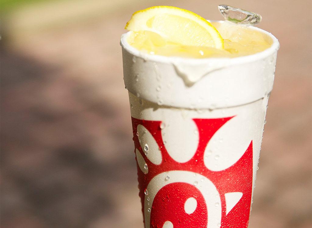 chick fil a lemonade stylized close up