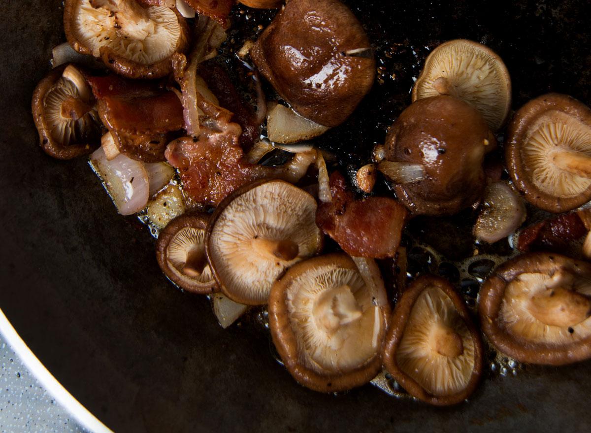 Cooked shiitake mushrooms