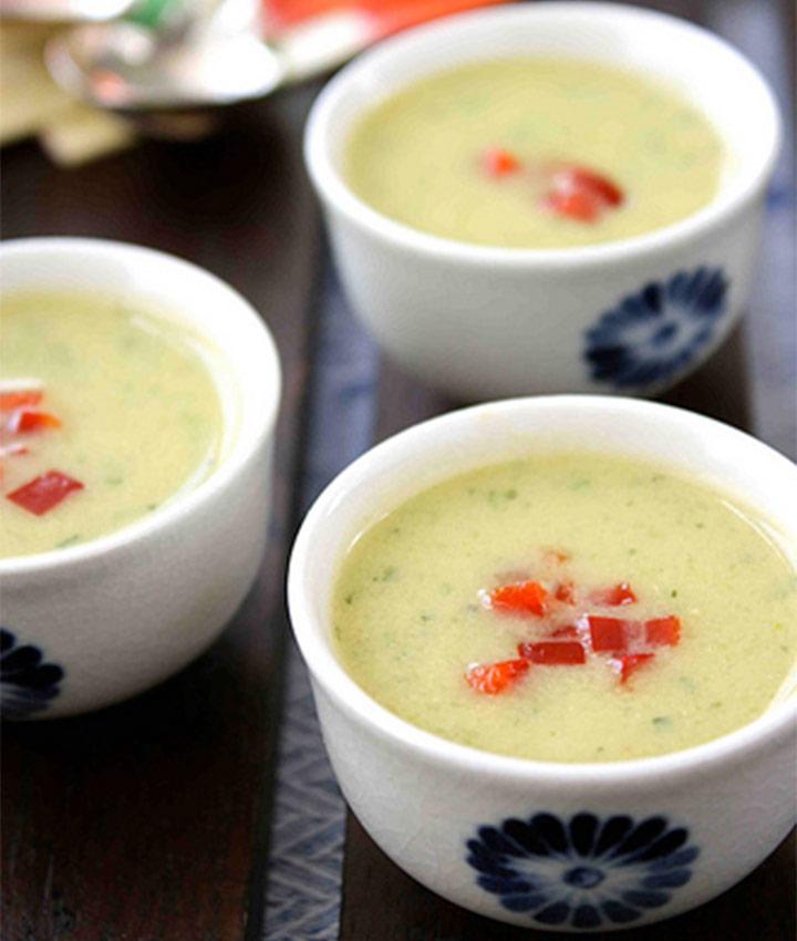 Creamy zucchini coconut milk soup dairy free recipe