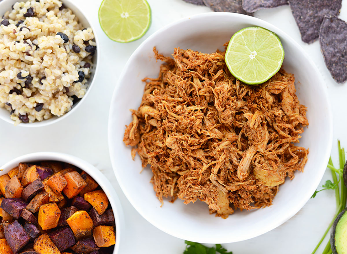 crockpot chicken taco bowl