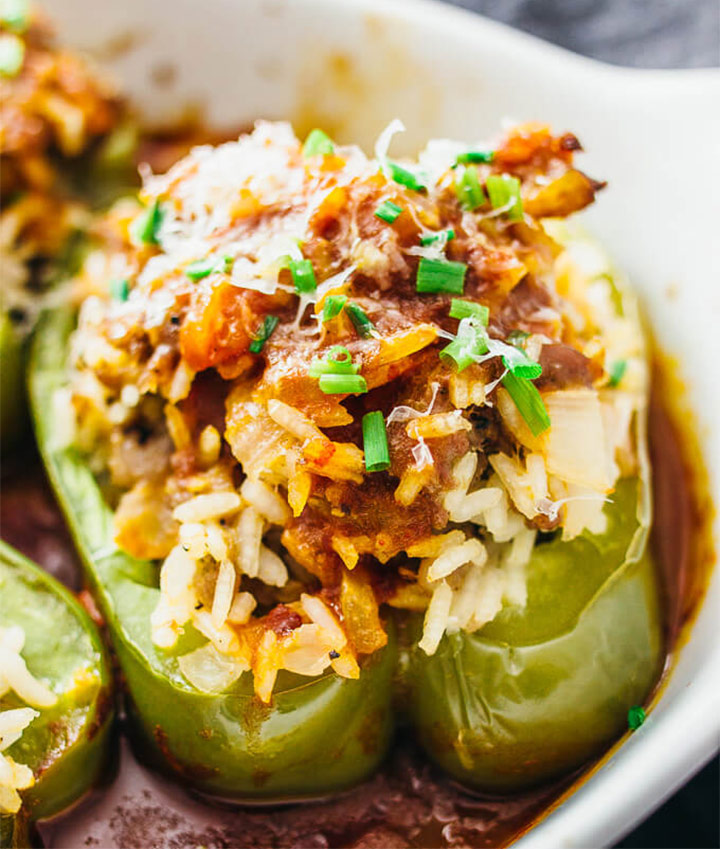 Easy italian stuffed pepper recipe blogger