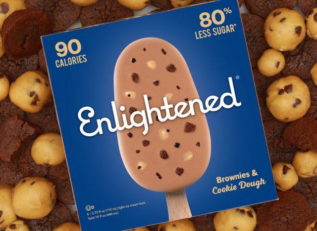 Enlightened brownie cookie dough bar