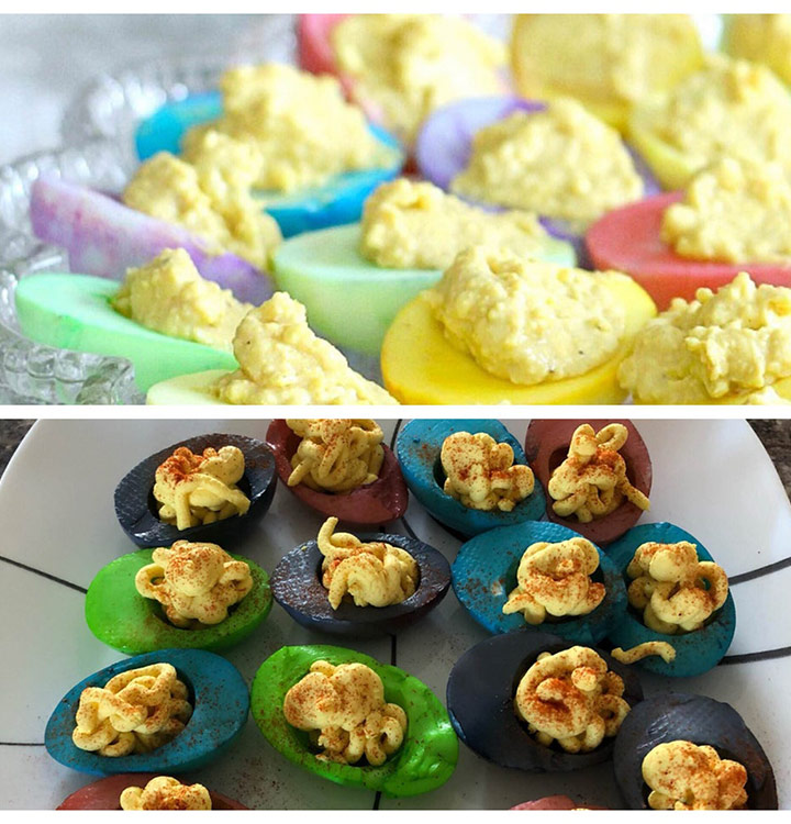Food fail dyed deviled egg easter