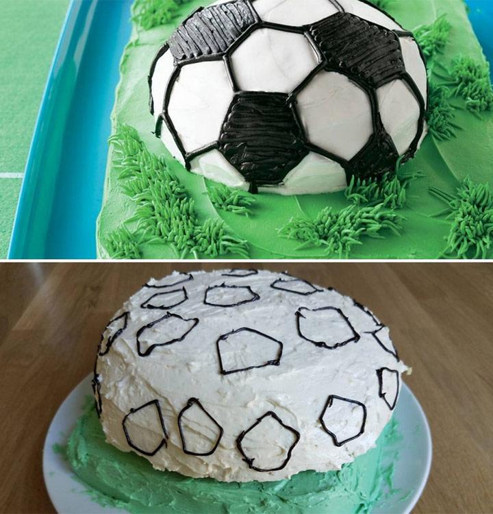 Food fail soccer ball cake