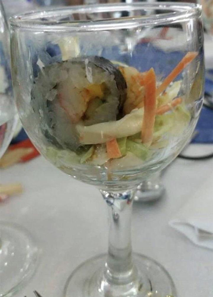 Food fails bad wedding food
