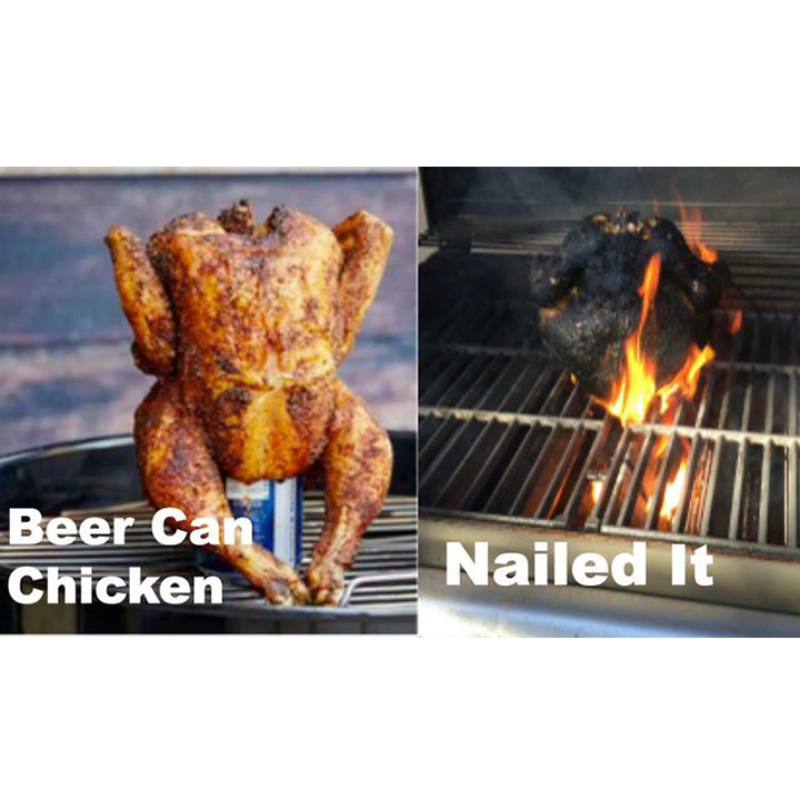Food fails beer can chicken