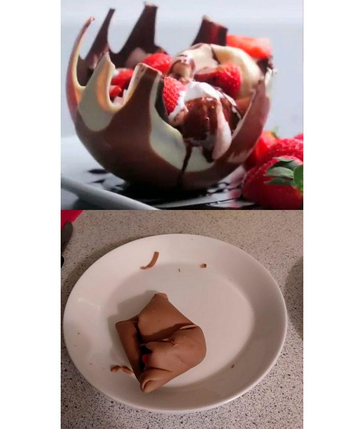Food fails chocolate orb