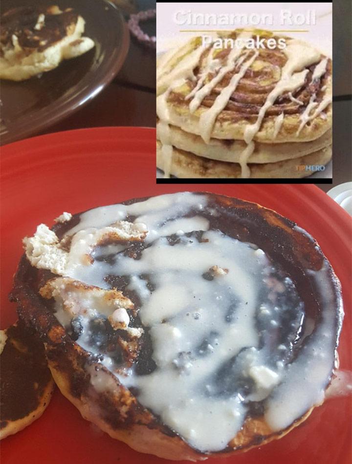 Food fails cinnamon roll pancakes