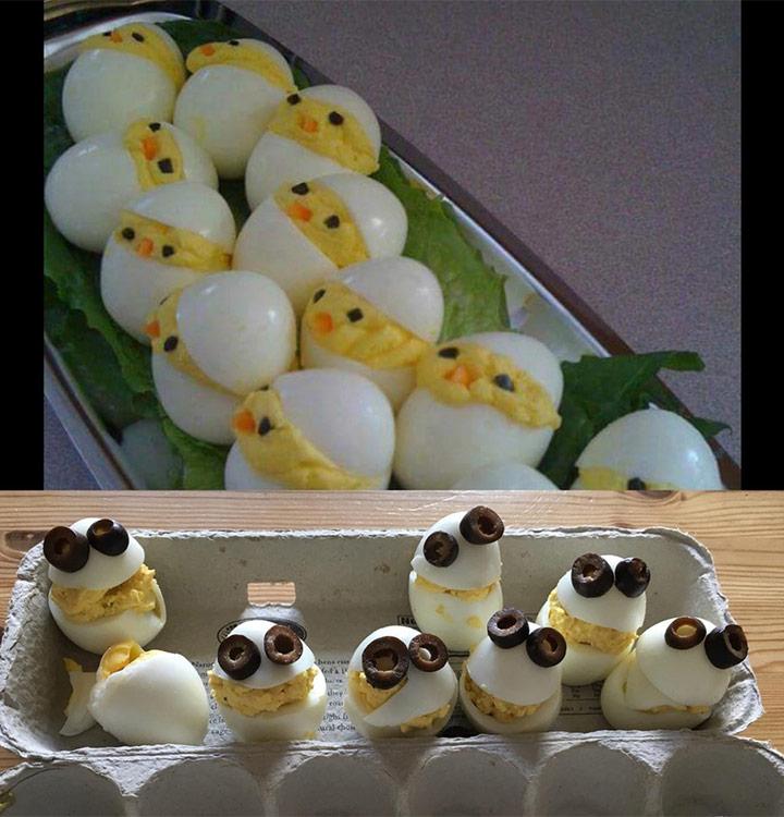 Food fails deviled egg chicks
