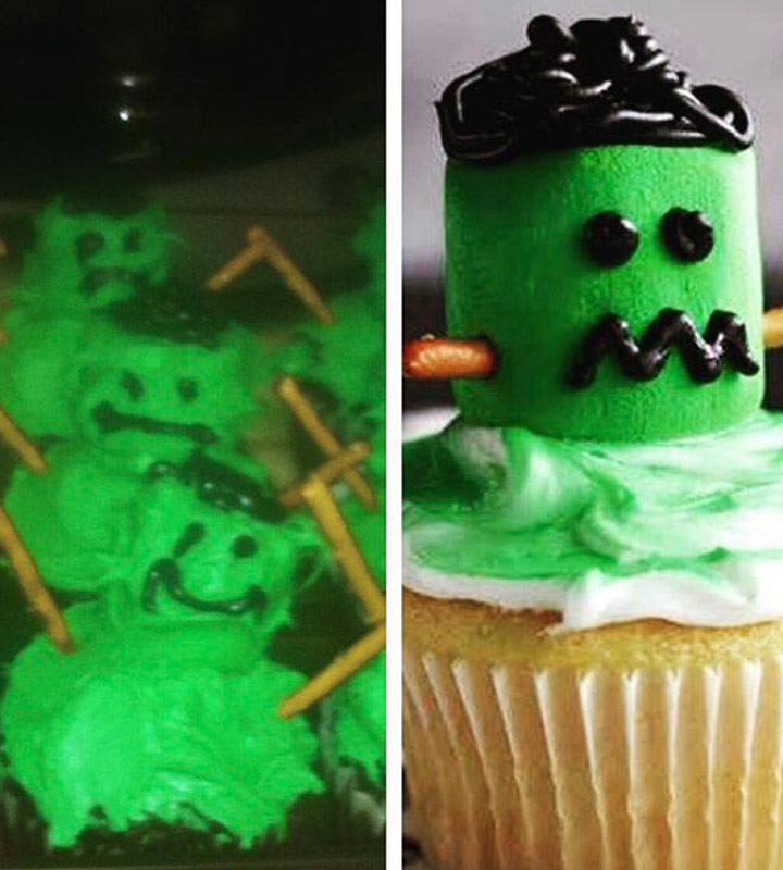 Food fails frankenstein cupcakes