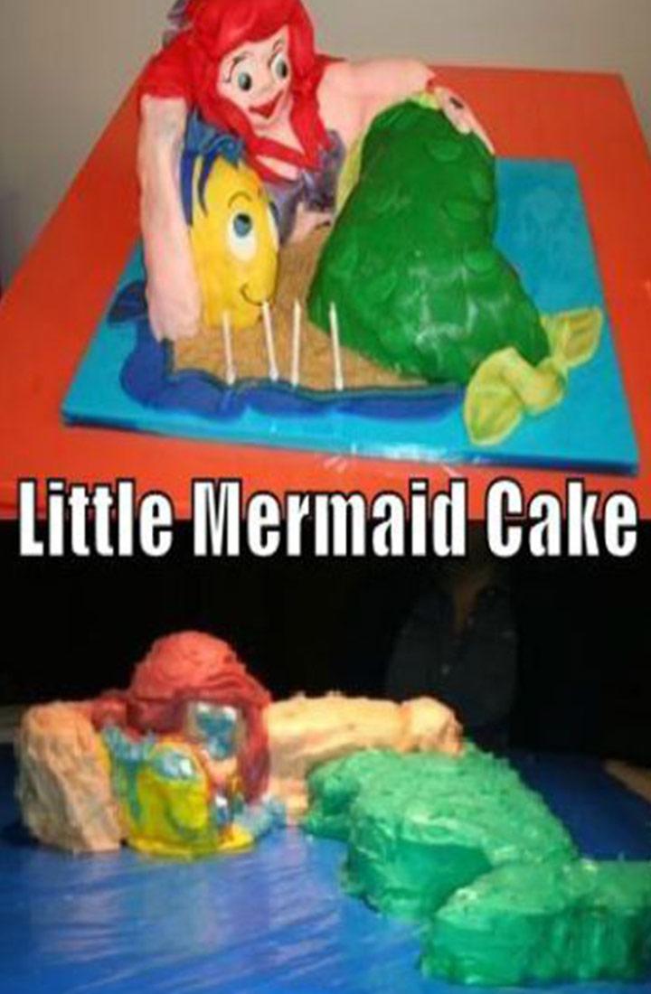 Food fails little mermaid cake