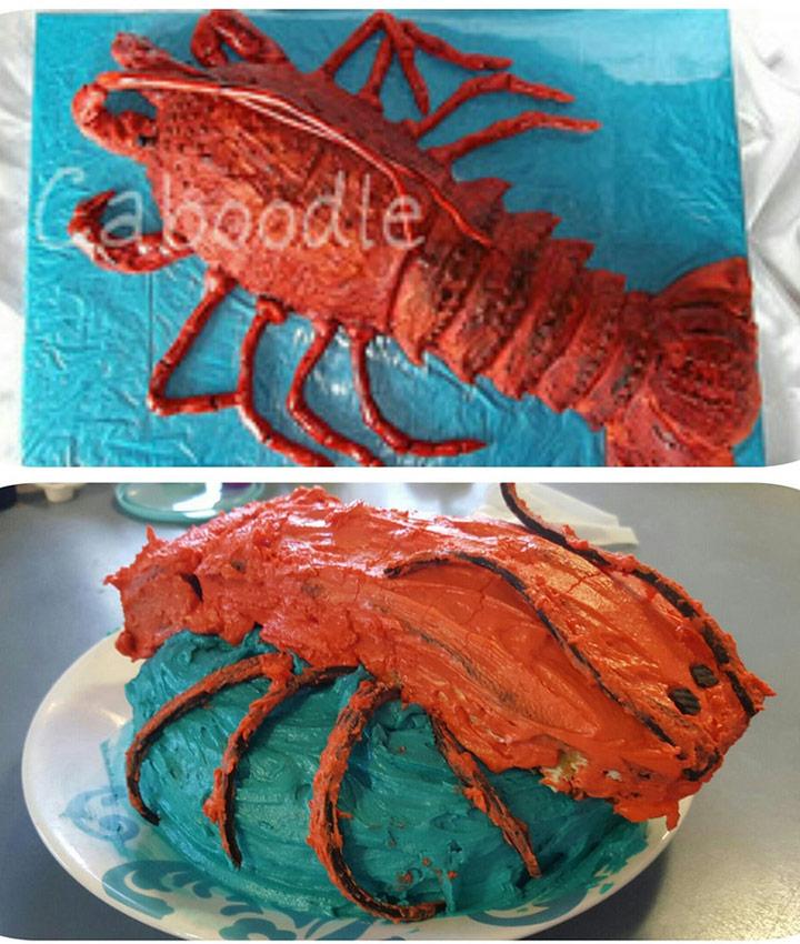 Food fails lobster under the sea cake