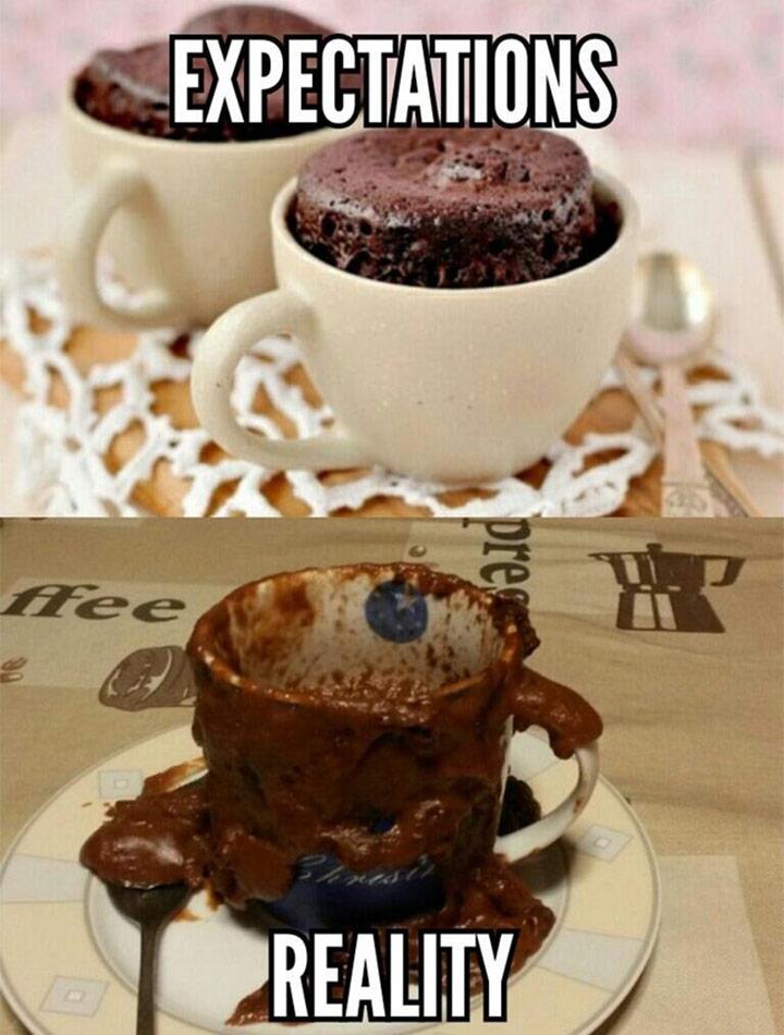 Food fails chocolate mug cake