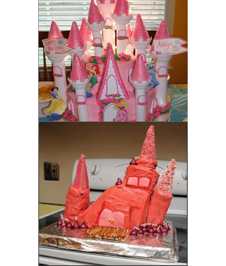 Food fails princess castle cake
