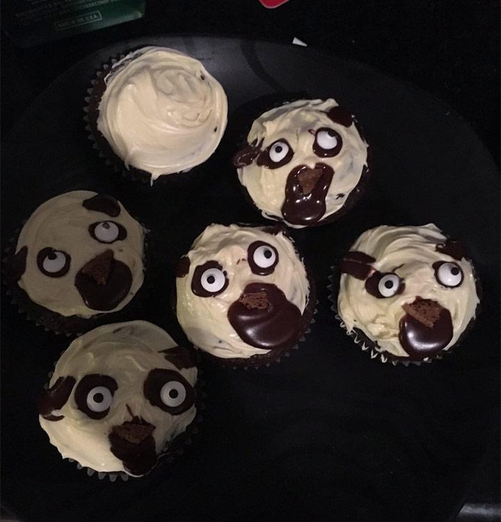 Food fails pug cupcakes