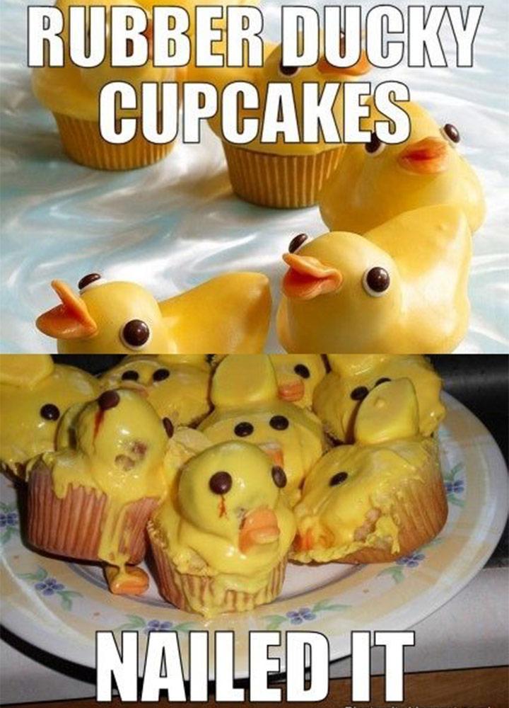 Food fails rubber ducky cupcakes