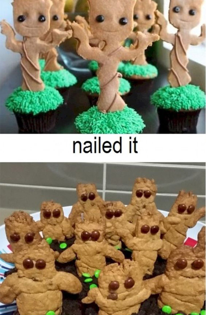 Food fails guardians of the galaxy cupcakes