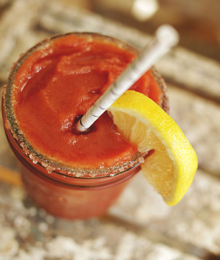 Frozen bloody mary cocktail blogger
