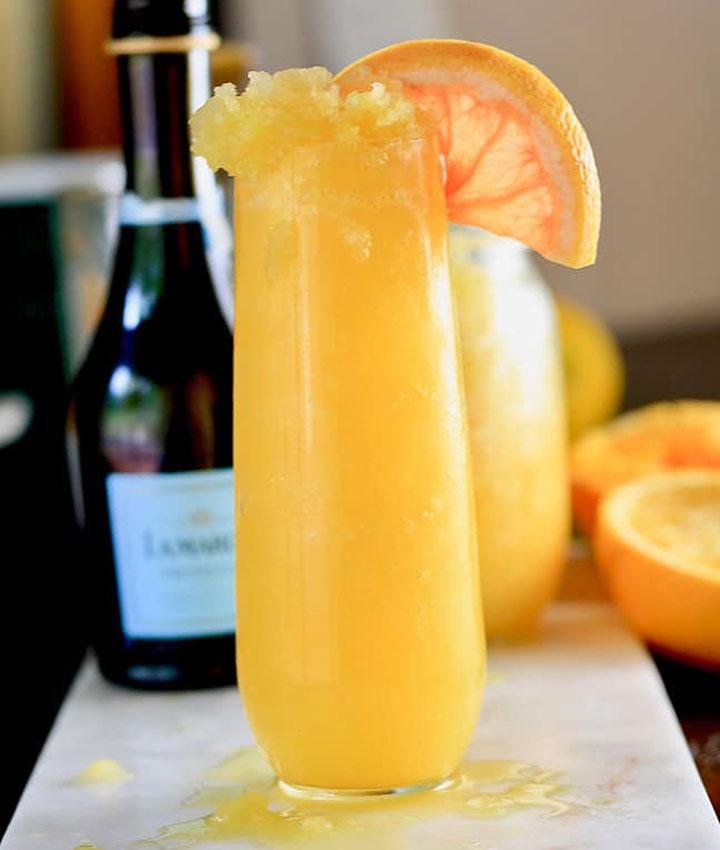 Frozen mimosas cocktail blogger
