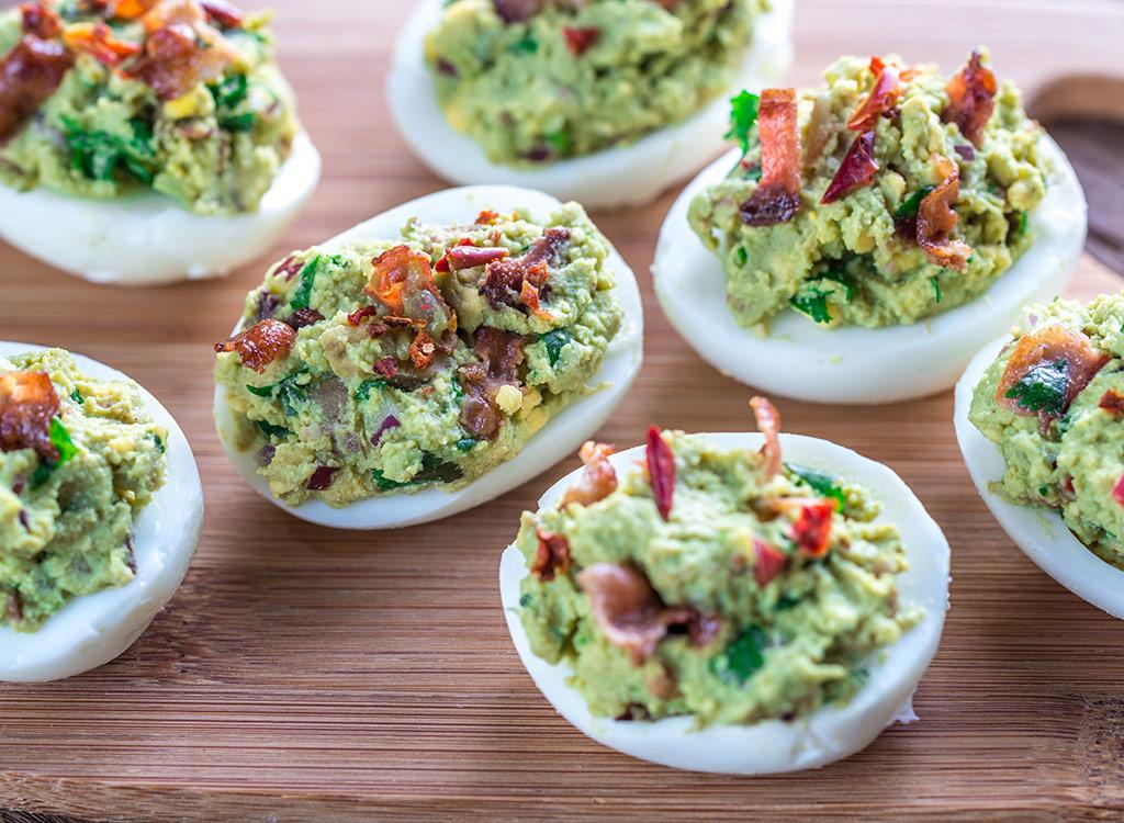 Guacamole with eggs