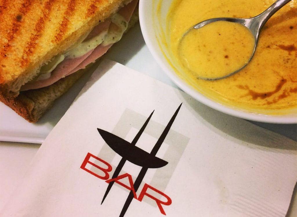Hallmark h bar soup and sanwich
