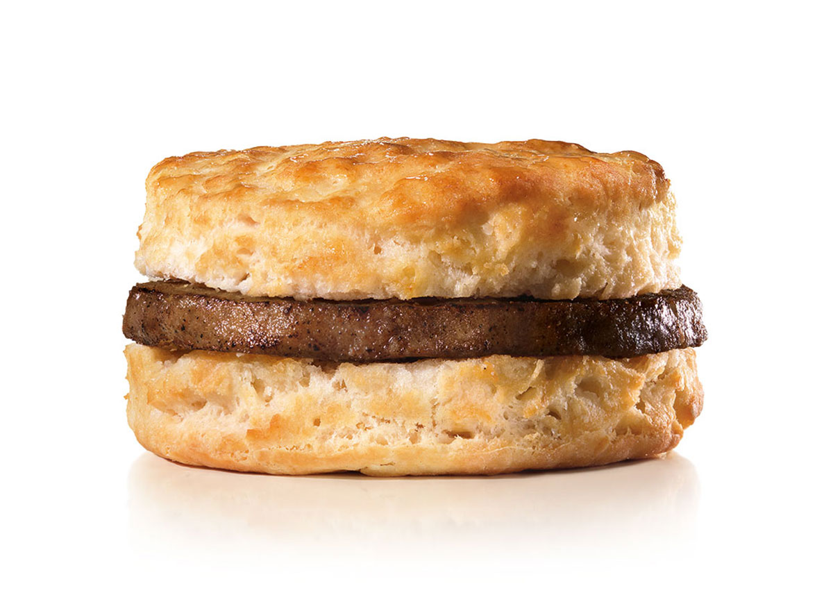 hardees sausage biscuit