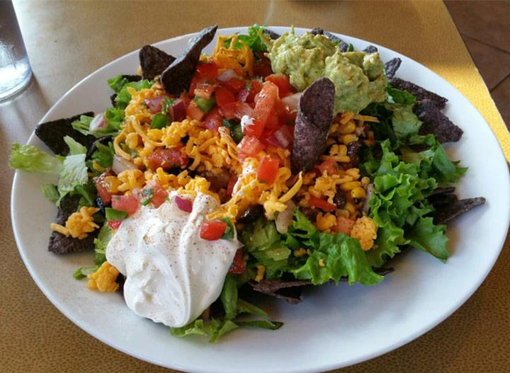 Jasons deli salad black bean taco