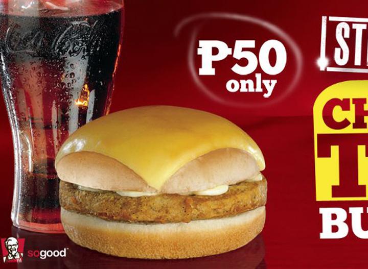 KFC cheese top burger