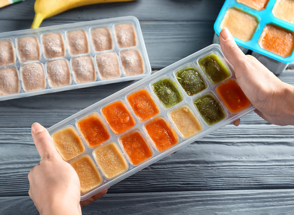 Leftovers in ice tray