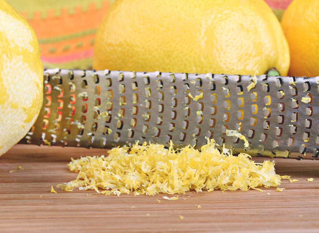 Lemon zest microplane grater