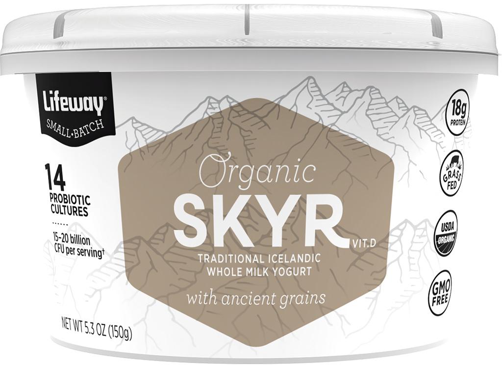 Lifeway organic skyr with ancient grains