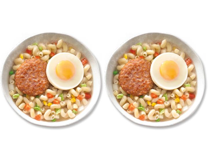 McDonalds ham and egg twisty pasta