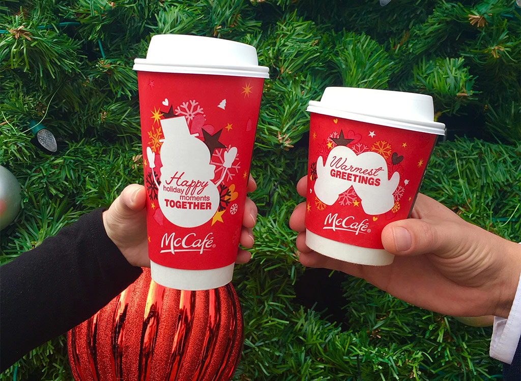 Mcdonald's holiday greeting mitten cup peppermint mocha limited time