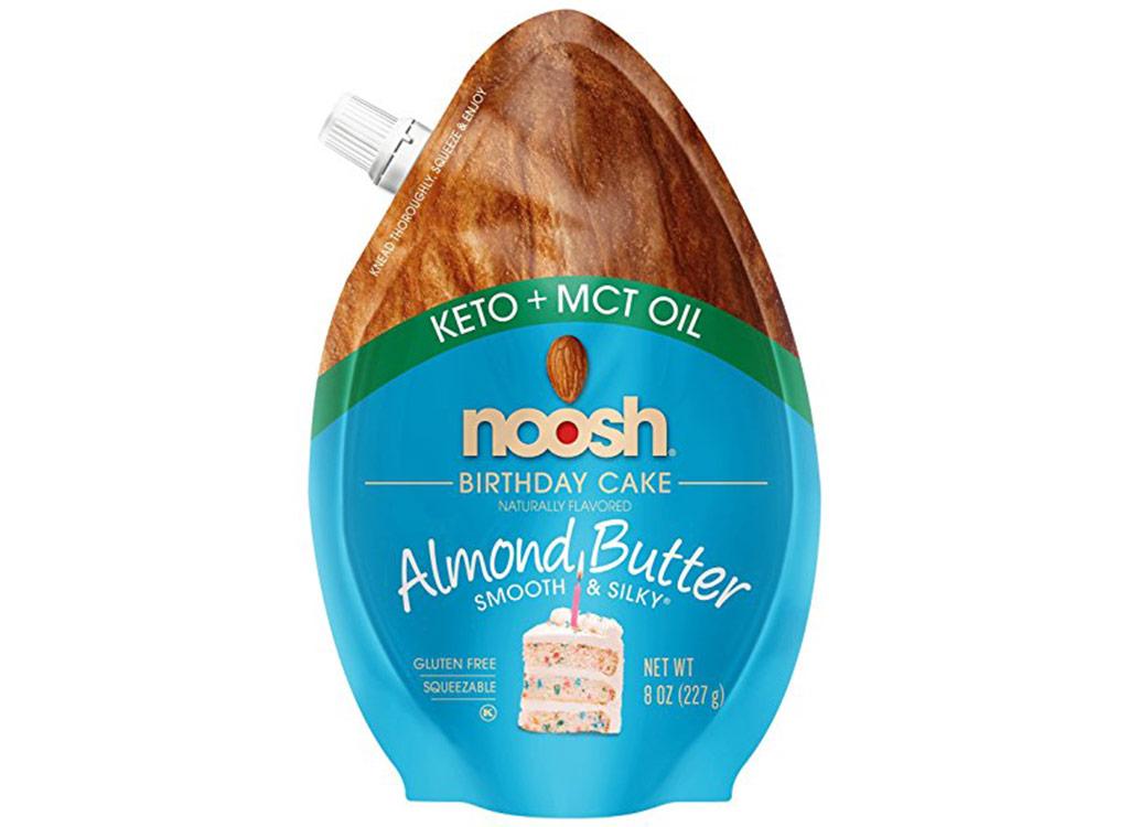 Noosh keto almond butter birthday cake flavor keto snack