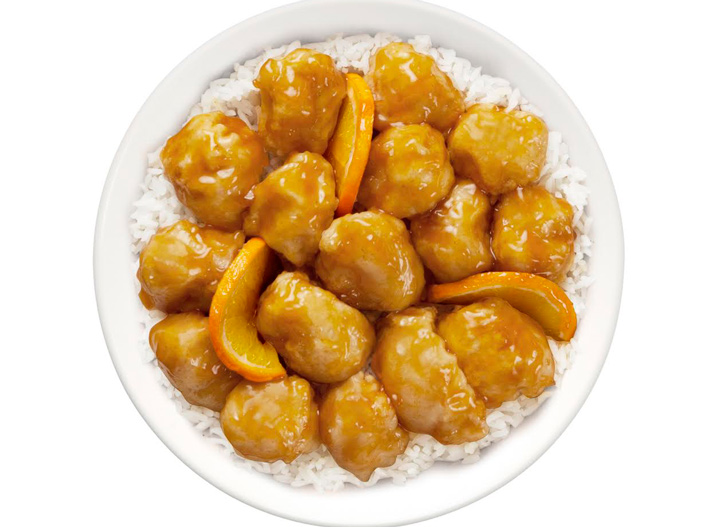 Pei Wei orange chicken