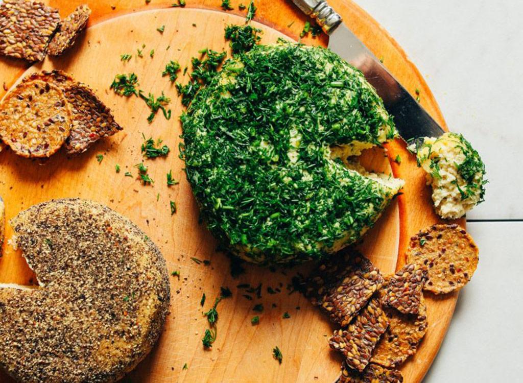 Probiotic vegan cheese