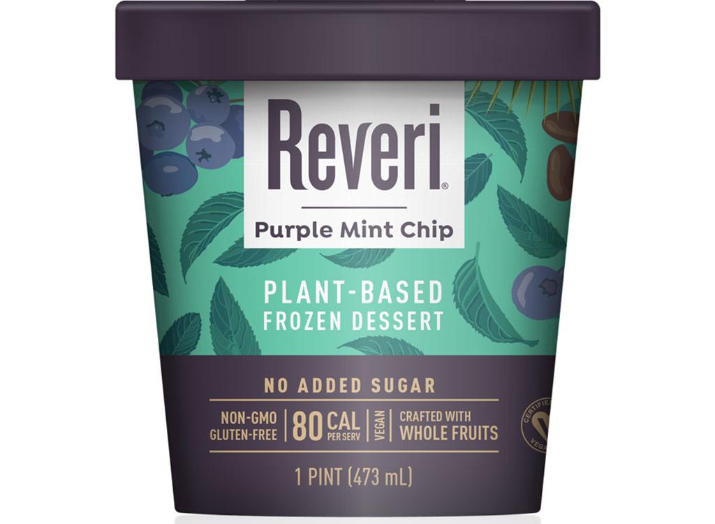 Reveri purple mint chip plant based ice cream