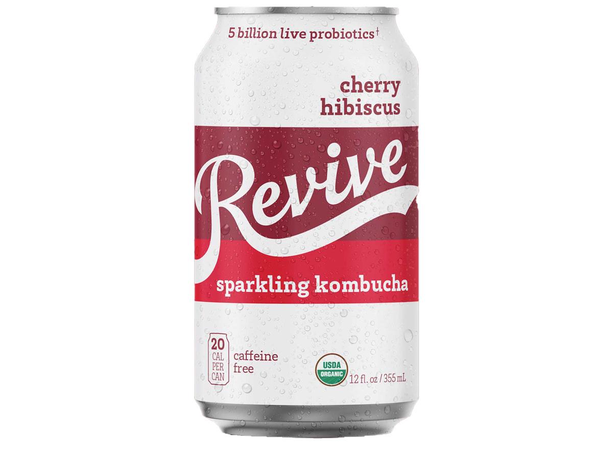 Revive kombucha cherry hibiscus