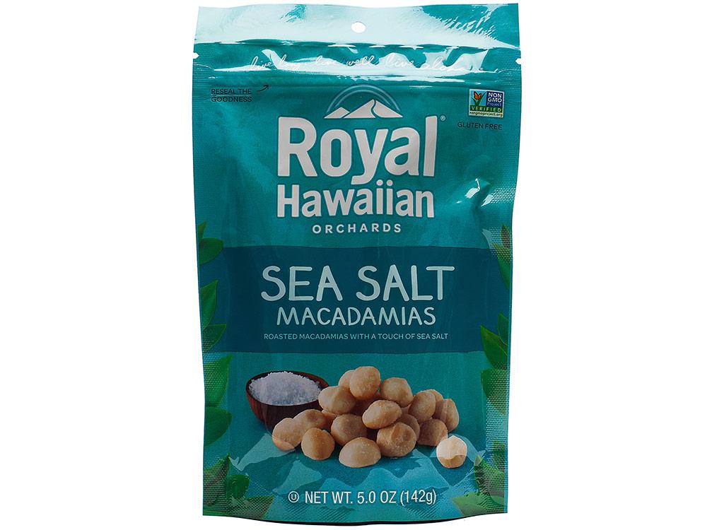 Royal hawaiian sea salt macadamias keto snack