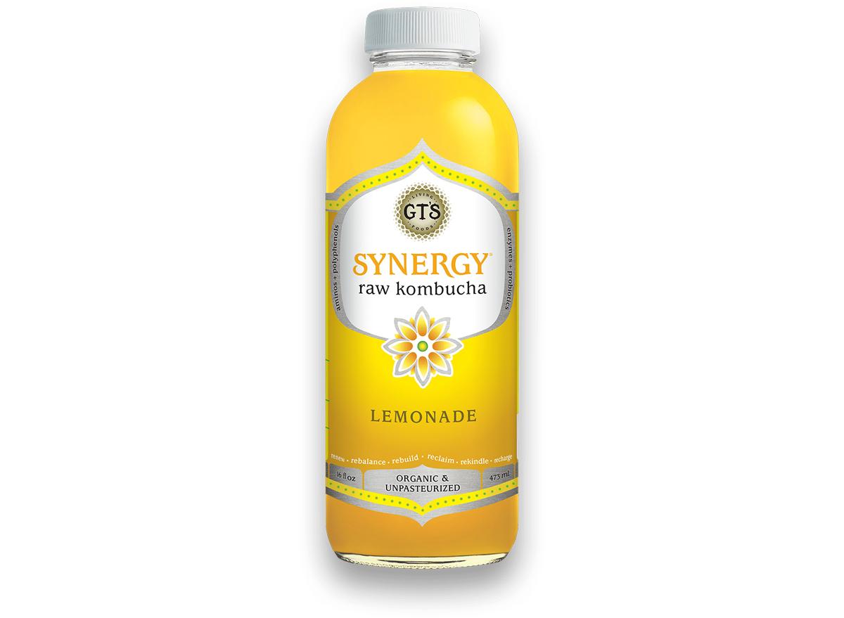 gts synergy raw kombucha lemonade