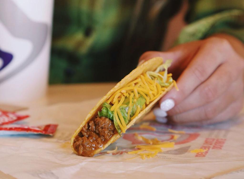 Taco Bell beef taco
