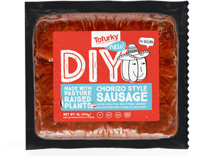 Tofurky chorizo sausage
