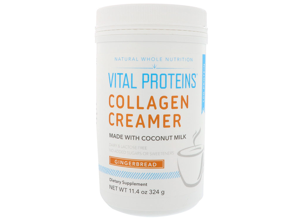 Vital proteins collagen creamer made with coconut milk gingerbread