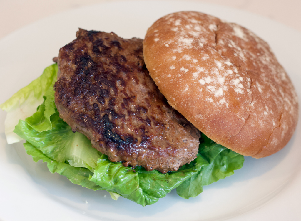 Bubba angus burger cooked