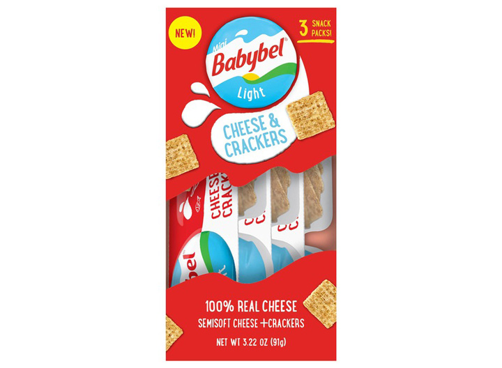 Babybel cheese and crackers