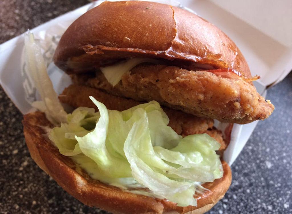 Carl's jr. bacon swiss chicken filet sandwich